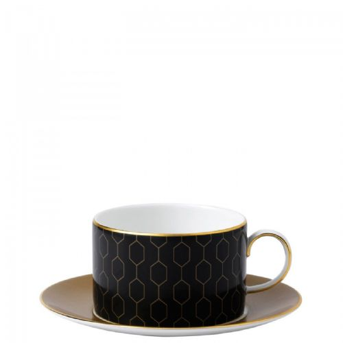 Arris Bone China Honeycomb Teacup & Saucer